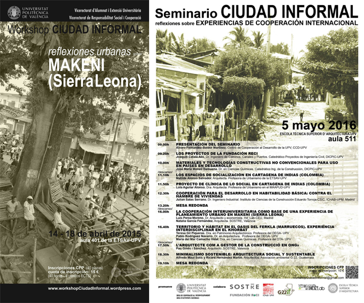 seminario y workshop CIudad INformal